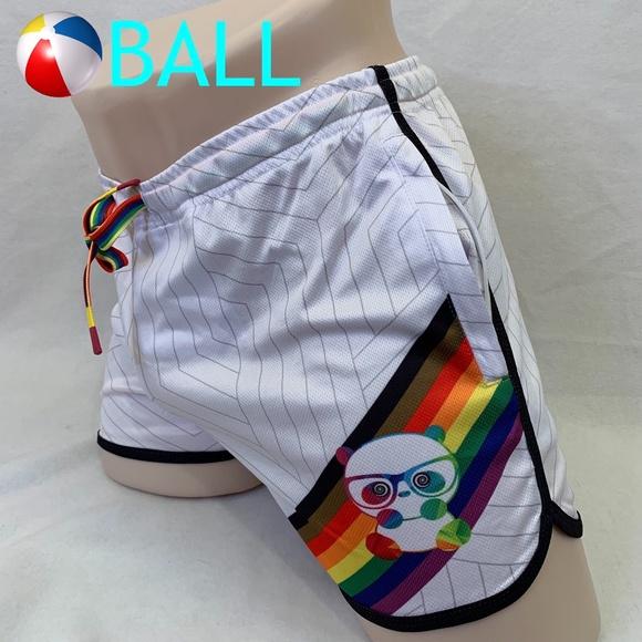 Ball Rainbow Panda Swim Trunks Large 34-38 RARE style no longer made